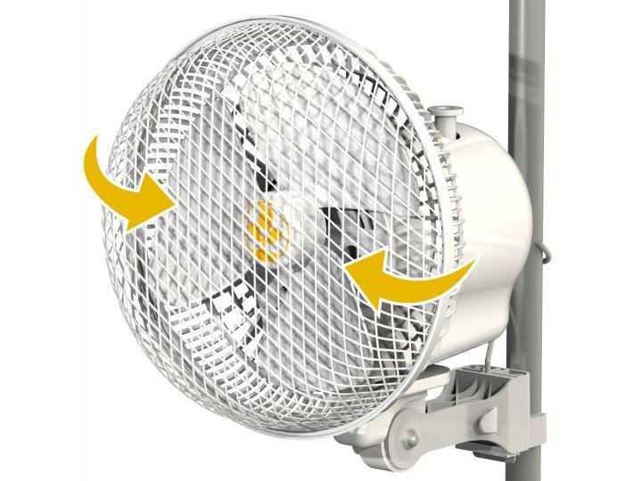 Monkey Fan 21cm, 20W oscilační - 2rychlosti, pro tyč 16 - 21mm