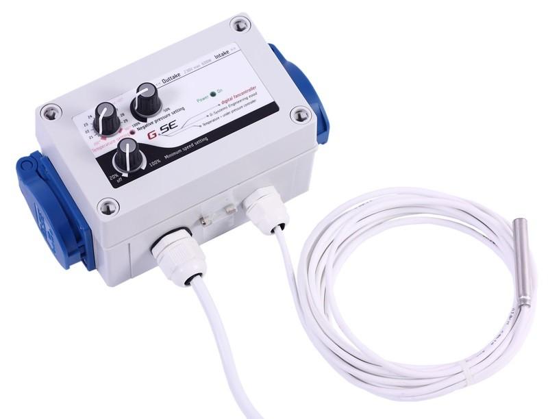 GSE Digitální regulátor teploty, podtlaku a min. rychlosti ventilátorů 2x1A