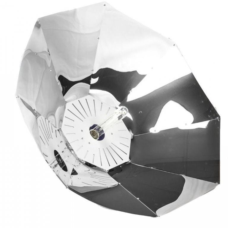 Lumatek Turrican Miro Ø100 cm parabolické stínidlo
