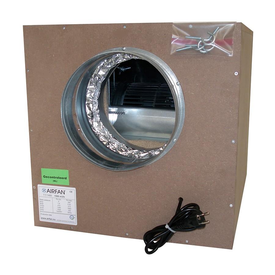 Airfan SOFT-Box 4250 m³/h - maximálně odhlučněný ventilátor včetně přírub a háků k upevnění