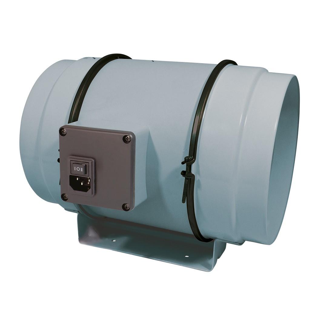 RAM MIXED-FLOW INLINE FAN Ø200mm 690/840 m³/h, 2-rychlostní axiální ventilátor