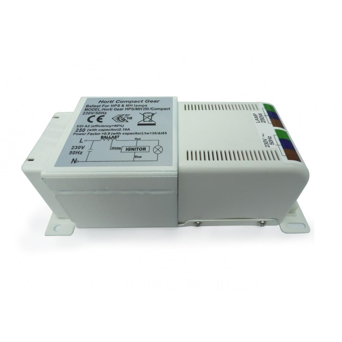 Magnetický předřadník Horti gear compact 250W s tepelnou ochranou