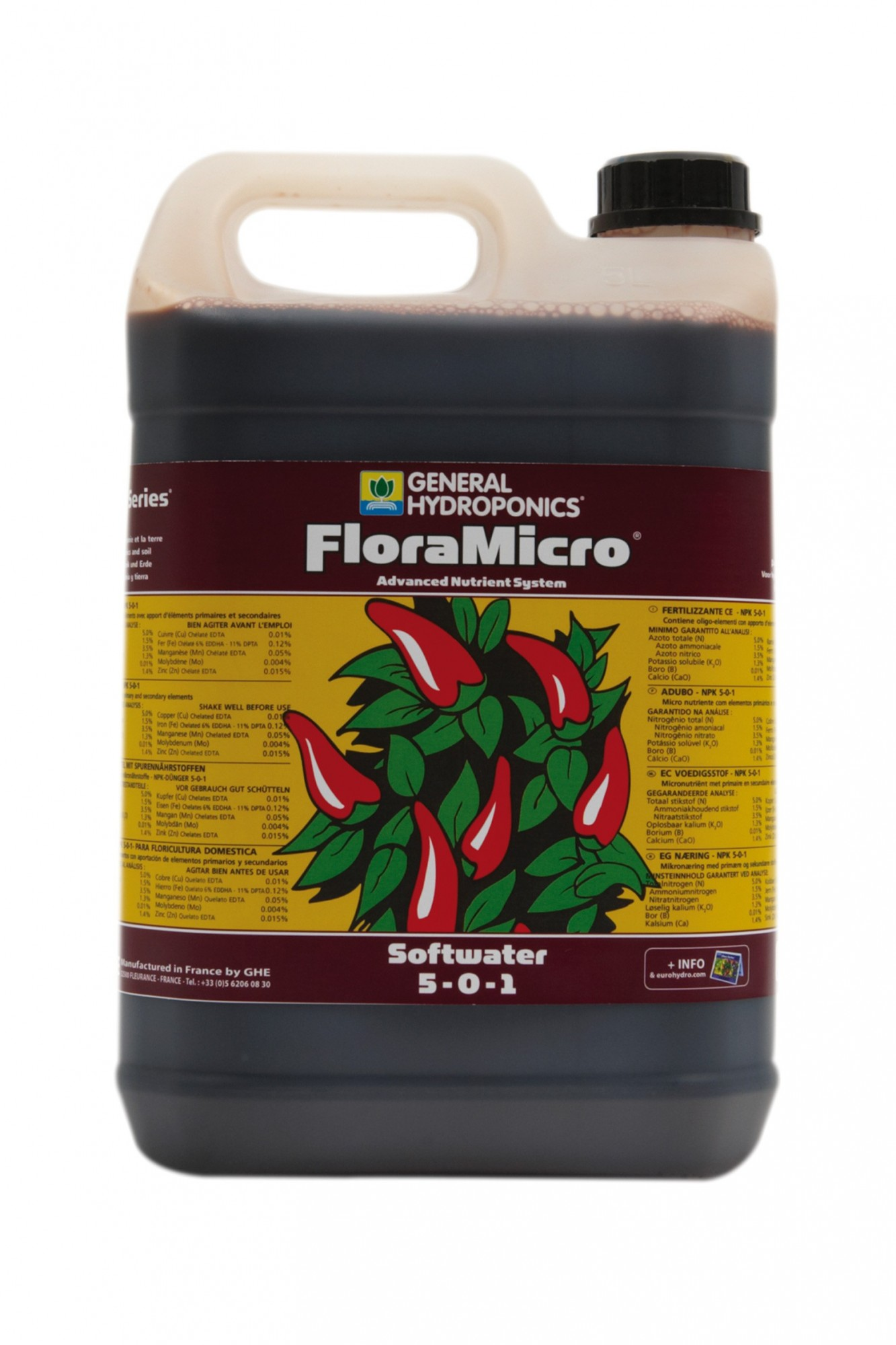 GHE FloraMicro Soft Water 5L