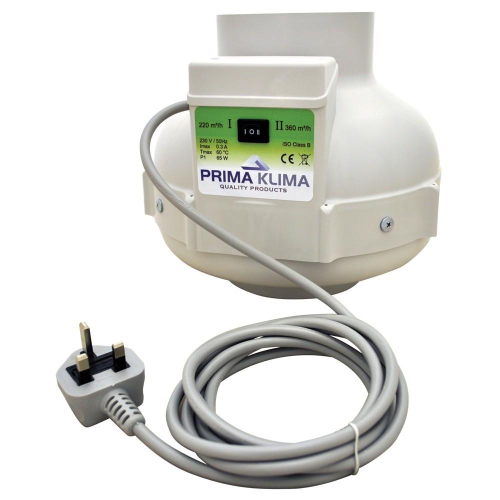 Ventilátor Prima Klima 125 mm, 220/400 m³/h - 2-rychlostní ventilátor