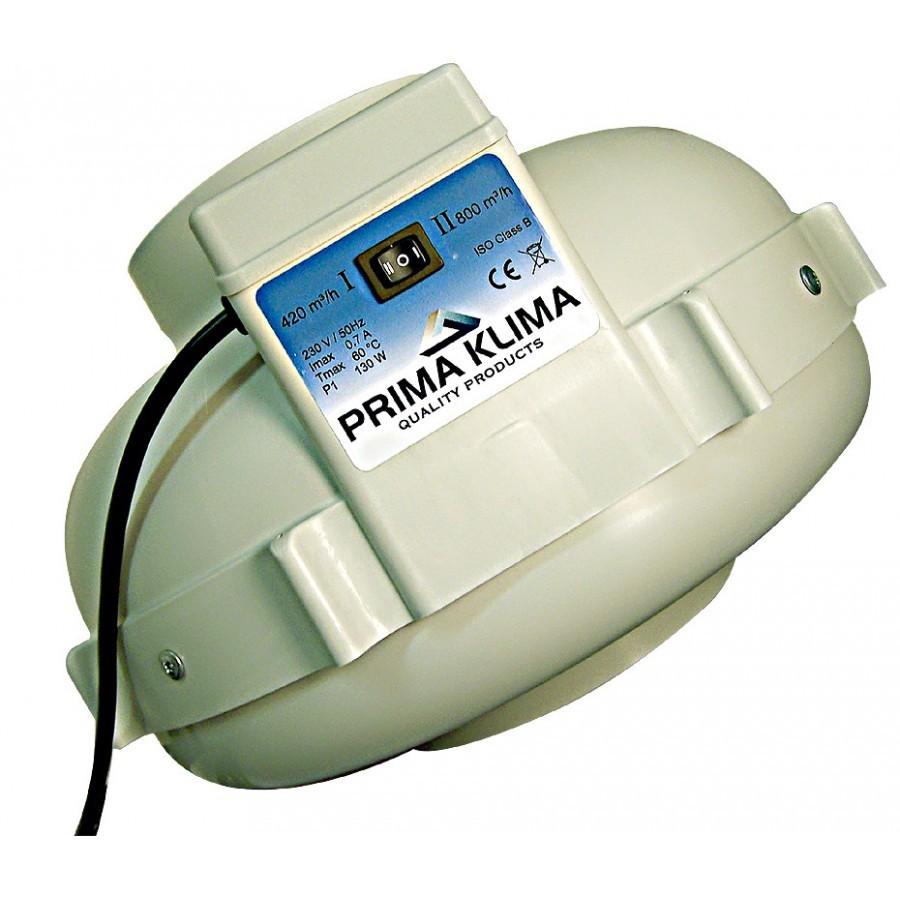 Ventilátor Prima Klima 160mm, 420/800m³/h - 2-rychlostní ventilátor