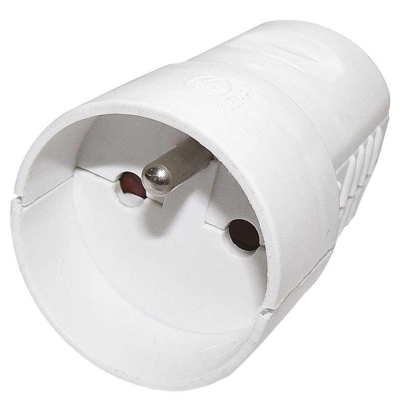 Zásuvka pro prodlužovací kabel, bílá