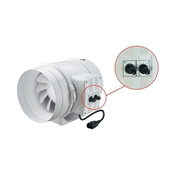 TTu 100mm/187m3, ventilátor s regulací