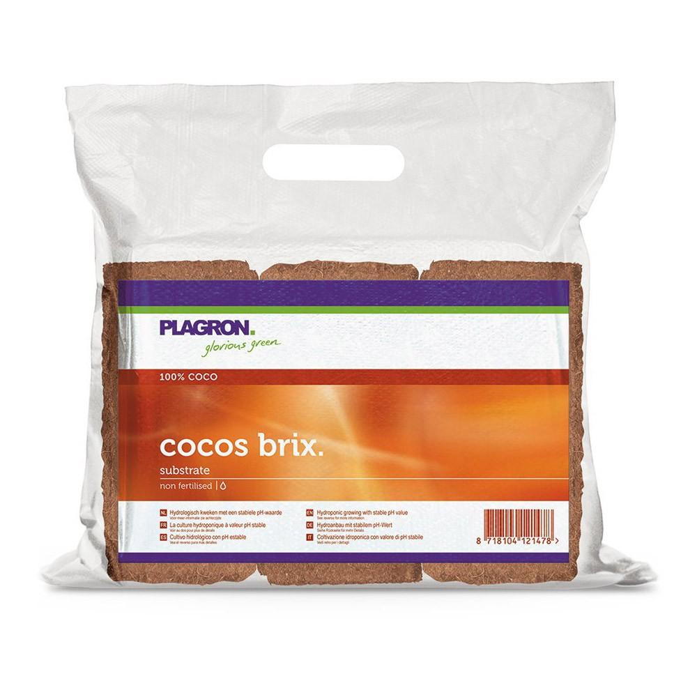 Plagron Cocos Brix 6ks - 6x9l, kokosový substrát