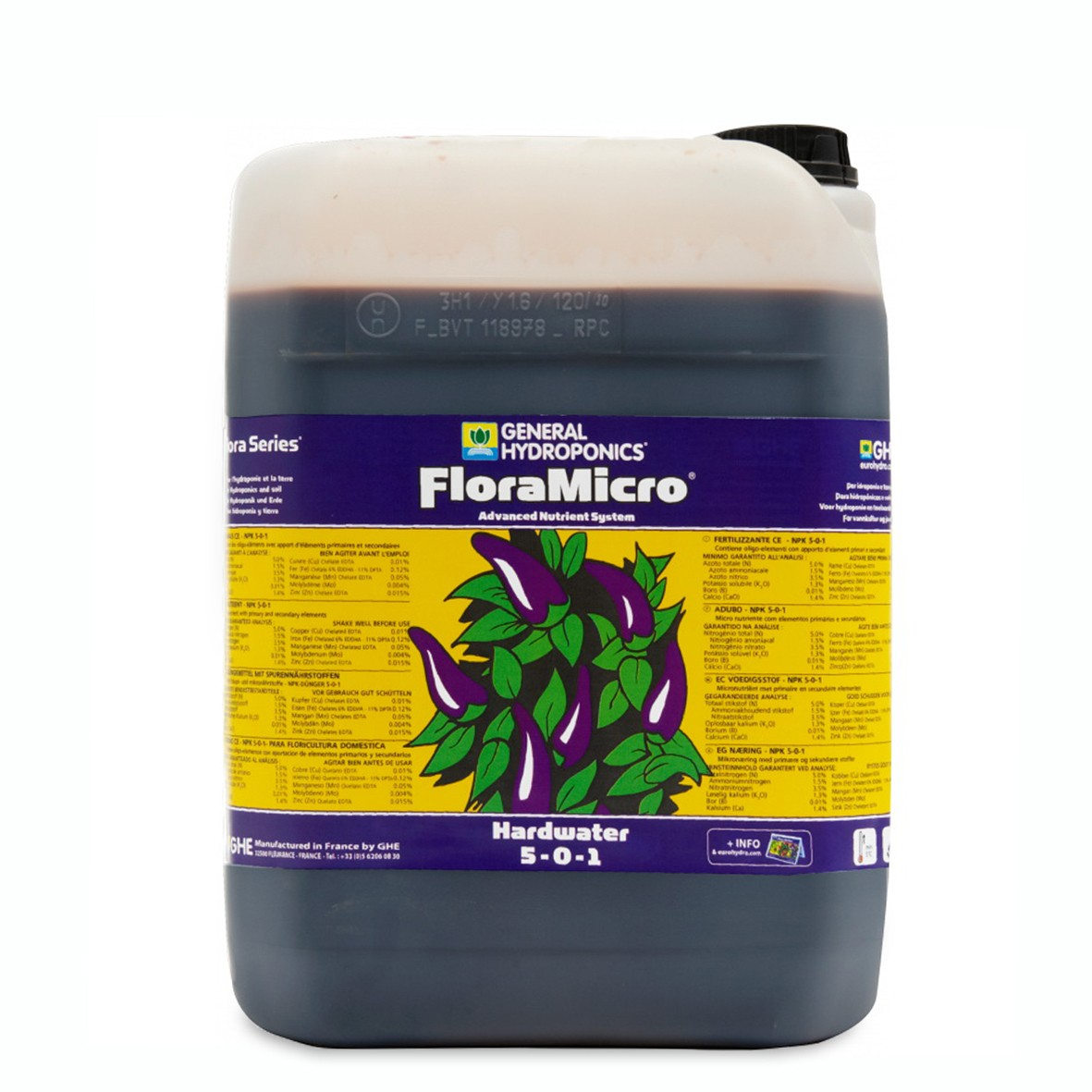 GHE FloraMicro Hard Water 10L
