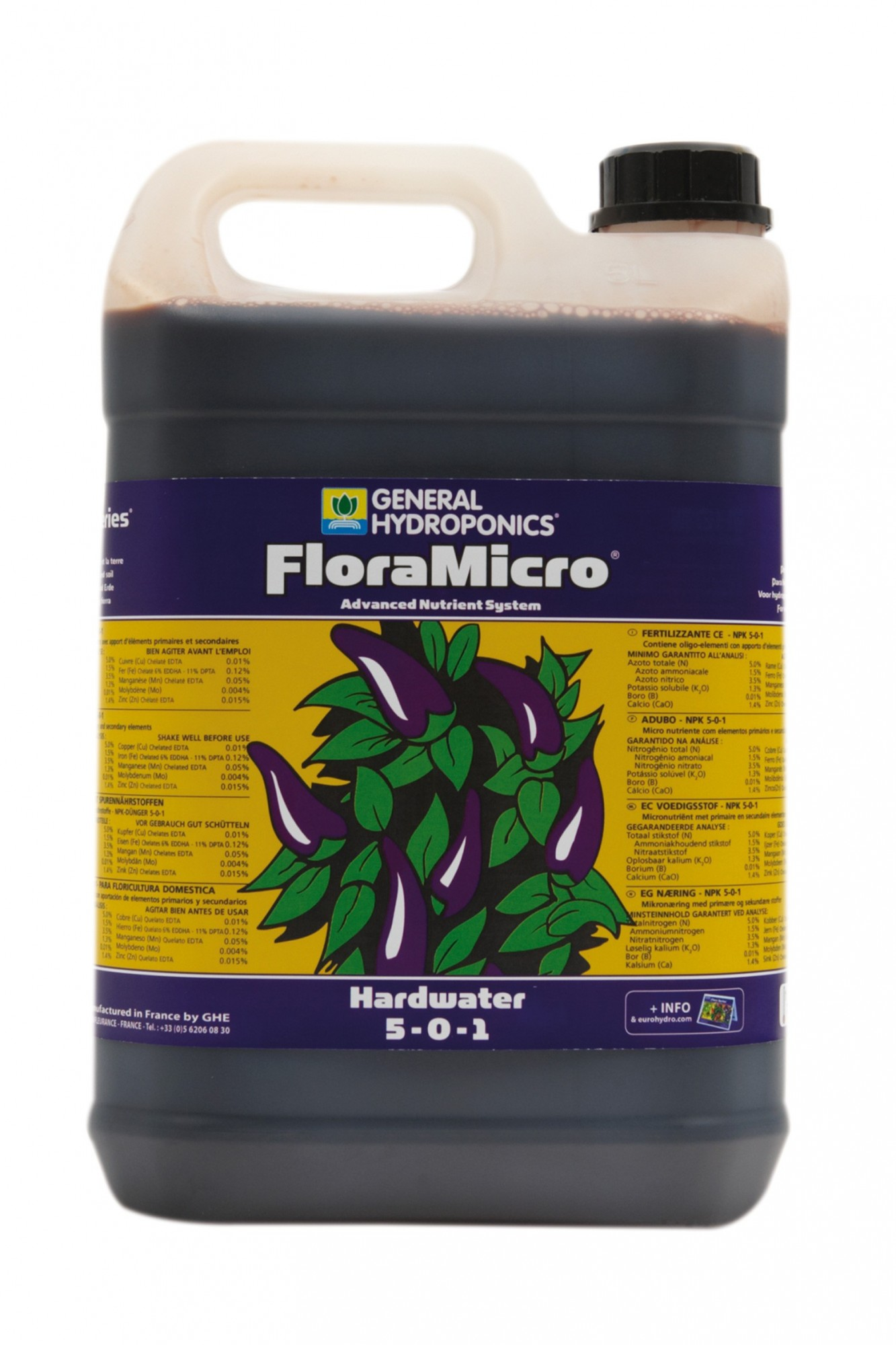 GHE FloraMicro Hard Water 5L