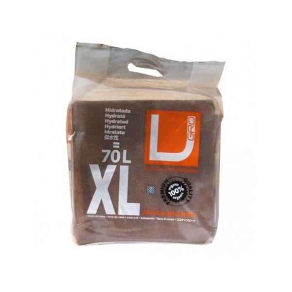 Lisovaný kokos U Gro XL - po rehydrataci 70l kokosového substrátu. Obsahuje trichodermu