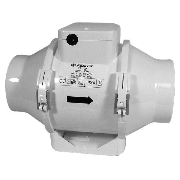 TT 100mm/187m3, ventilátor