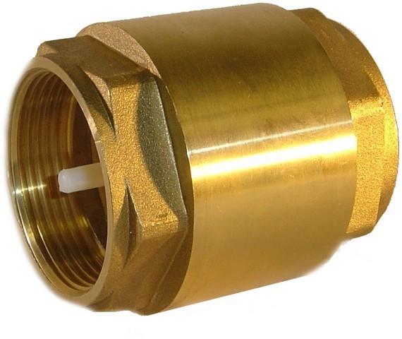 Zpětný ventil, mosazný, 3/4´´ 2 x závit