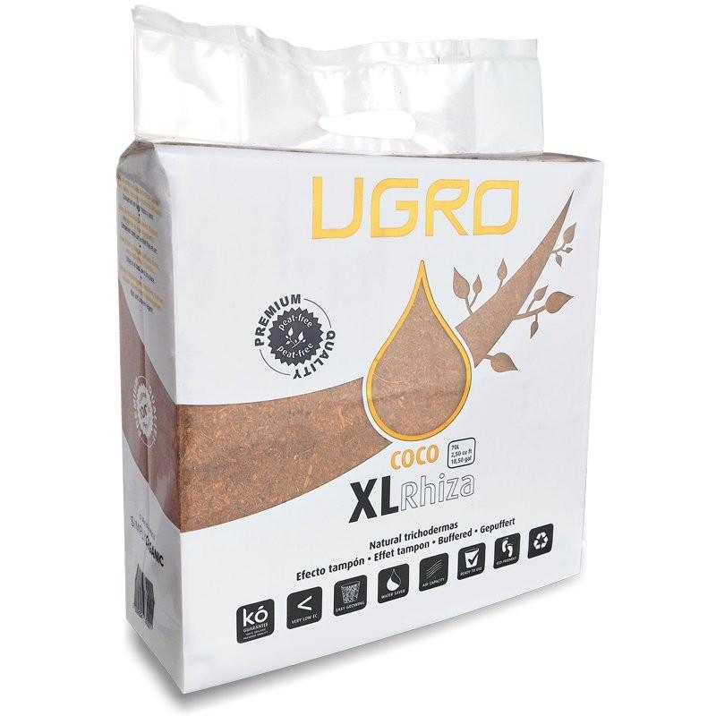 Lisovaný kokos U Gro XL RHIZA 70L, kokosový substrát s trichodermou