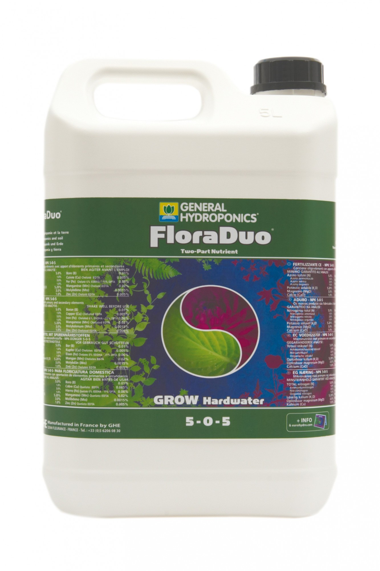 GHE FloraDuo Grow Hard Water 5L