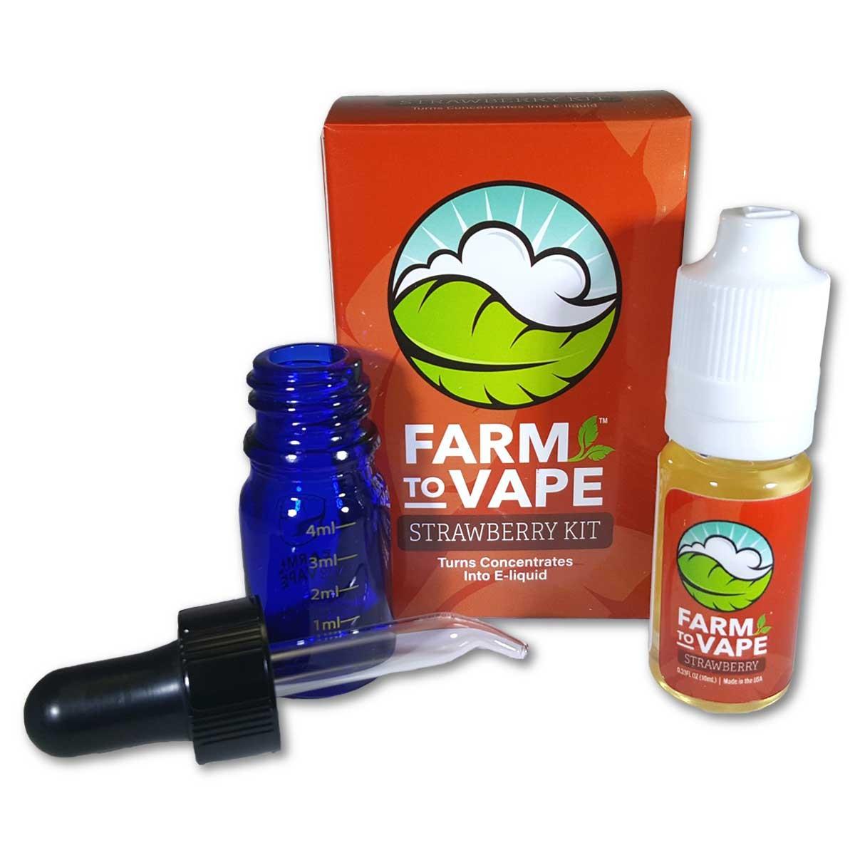 Farm To Vape sada pro rozpouštění pryskyřice 10ml Jahoda